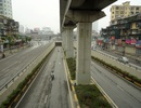 Sớm mai vắng vẻ tại Hà Nội ngày nghỉ lễ