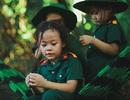 Bộ ảnh xúc động của các bé mẫu giáo trong màu áo lính