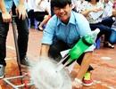 """Học sinh bắn tên lửa nước, tái hiện """"trận Điện Biên Phủ trên không"""""""