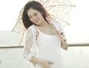 """Hot girl Hà Min """"bầu bí"""" vẫn xinh như thời con gái"""