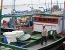 Hàng chục tàu cá mắc kẹt nơi cửa biển