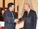 Chủ tịch nước Trương Tấn Sang tiếp Đại sứ Algeria chào từ biệt