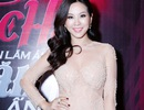 Hoa hậu Thu Hoài diện váy pha lê dự show Hồ Ngọc Hà