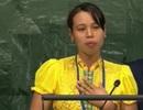 Người phụ nữ dân tộc Thái nhiễm HIV nói lời cảm ơn tại Liên Hợp Quốc