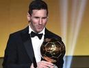 Messi hạnh phúc sau khi giành Quả bóng vàng thứ 5