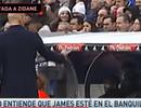 Zidane nổi cáu vì thái độ chống đối của James Rodriguez