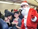 Ông già Noel bất ngờ xuất hiện trên các chuyến bay giá rẻ