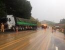 Xe đón dâu gặp nạn trên cao tốc Nội Bài - Lào Cai, 2 người tử vong