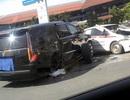 Hà Nội: Sau va chạm, chiếc Cadillac Escalade biển số siêu đẹp... văng bánh!