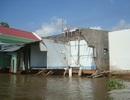 """7 căn nhà bị sông """"nuốt"""", nhiều hộ dân di dời khẩn cấp"""