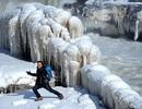 Cảnh tượng hùng vĩ hiếm gặp khi sông Hoàng Hà đóng băng