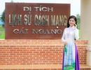 Á hậu Diễm Trang thăm khu di tích lịch sử Cách mạng