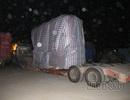 """Tạm giữ xe """"siêu trọng"""" nặng 140 tấn chạy qua hàng loạt trạm cân từ Hà Nội"""