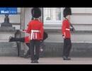"""Video: Cảnh vệ Hoàng gia Anh """"vồ ếch"""" khi đổi gác"""