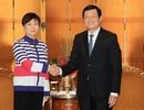 Chủ tịch nước tiếp Chủ tịch Hội Hữu nghị đối ngoại nhân dân Trung Quốc