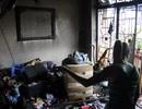 Chập điện gây cháy nhà, hai mẹ con may mắn thoát nạn