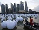 Hàng ngàn quả bóng lấp đầy sông Singapore