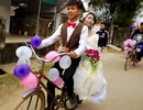 """Tâm sự của chú rể rước dâu bằng xe đạp """"cà tàng"""""""