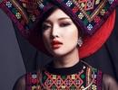 Hoa hậu Triệu Thị Hà ấn tượng với áo dài đội khăn piêu