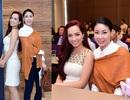 """Hoa hậu Hà Kiều Anh """"đọ dáng"""" cùng MC Thúy Hạnh"""