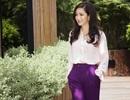 Hoa hậu đền Hùng Giáng My quyến rũ với sắc tím