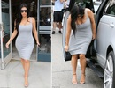 Kim Kardashian khoe bụng bầu đi mua sắm