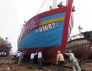Hạ thủy tàu vỏ gỗ đầu tiên giá 7,7 tỷ đồng đóng mới bằng vốn vay ưu đãi