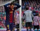Mất điểm phút cuối tại San Mames, Barcelona chưa thể vô địch sớm