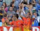 Tello lập cú đúp, Barca đại thắng ở La Romareda