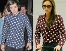 """Victoria Beckham """"đụng hàng"""" áo tim với thành viên One Direction"""