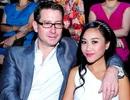 """Đoan Trang """"bế bụng bầu"""" cùng chồng Tây xem thời trang"""