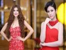 """Hoa hậu Ngọc Hân """"đọ"""" sắc đỏ cùng siêu mẫu Kim Dung"""