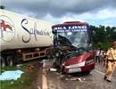 Xe khách tông xe container, 1 người chết, 5 người bị thương