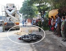 Tránh vũng nước mưa, người phụ nữ bị xe bồn cán tử vong