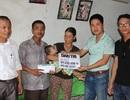 Trao hơn 87 triệu đồng đến gia đình em Thái Thị Mỹ