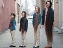 Bốn mẹ con sở hữu mái tóc dài ấn tượng nhiều năm không cắt