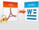 Chuyển đổi định dạng file PDF sang Word để dễ dàng chỉnh sửa nội dung