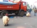 Xe tải tông 2 cô gái nguy kịch, xe con lao xuống ao