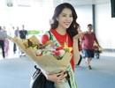 Nam Em mặc trang phục quốc kỳ lên đường tham gia Miss Earth 2016