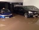 """Hàng trăm xe ngâm nước trong tầng hầm chung cư sau trận mưa """"kỷ lục"""""""
