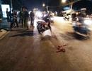 4 người đi xe máy đâm gục thanh niên trên đường