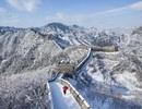 Khung cảnh hùng vỹ trên Vạn Lý trường thành ngày tuyết rơi