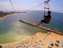 Trải nghiệm đường zipline trên mặt nước dài nhất thế giới