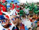 Những sắc màu ấn tượng từ các cổ động viên trên khán đài Euro 2016