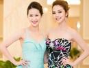 Hoa hậu Jennifer Phạm rạng ngời  bên Dương Thùy Linh