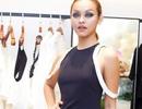 Mai Ngô trang điểm ấn tượng đến chúc mừng Hoa hậu Mai Hà Ngân