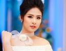 Hoa hậu Ngọc Hân diện váy trắng khoe vai trần gợi cảm
