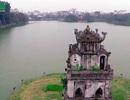 Hình ảnh lạ về Quy Sơn tháp giữa Hồ Gươm