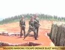 Khi lính mới suýt chết vì tập ném lựu đạn vụng về