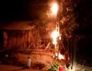 Đường dây điện bốc cháy, nhiều hộ dân cháy hết thiết bị điện